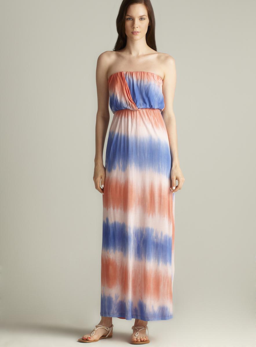 Tresics Strapless Tie Dye Maxi Dress