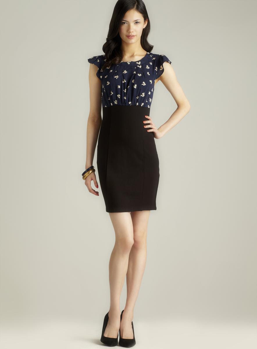 Darling Capped Sleeve Printed Top Dress