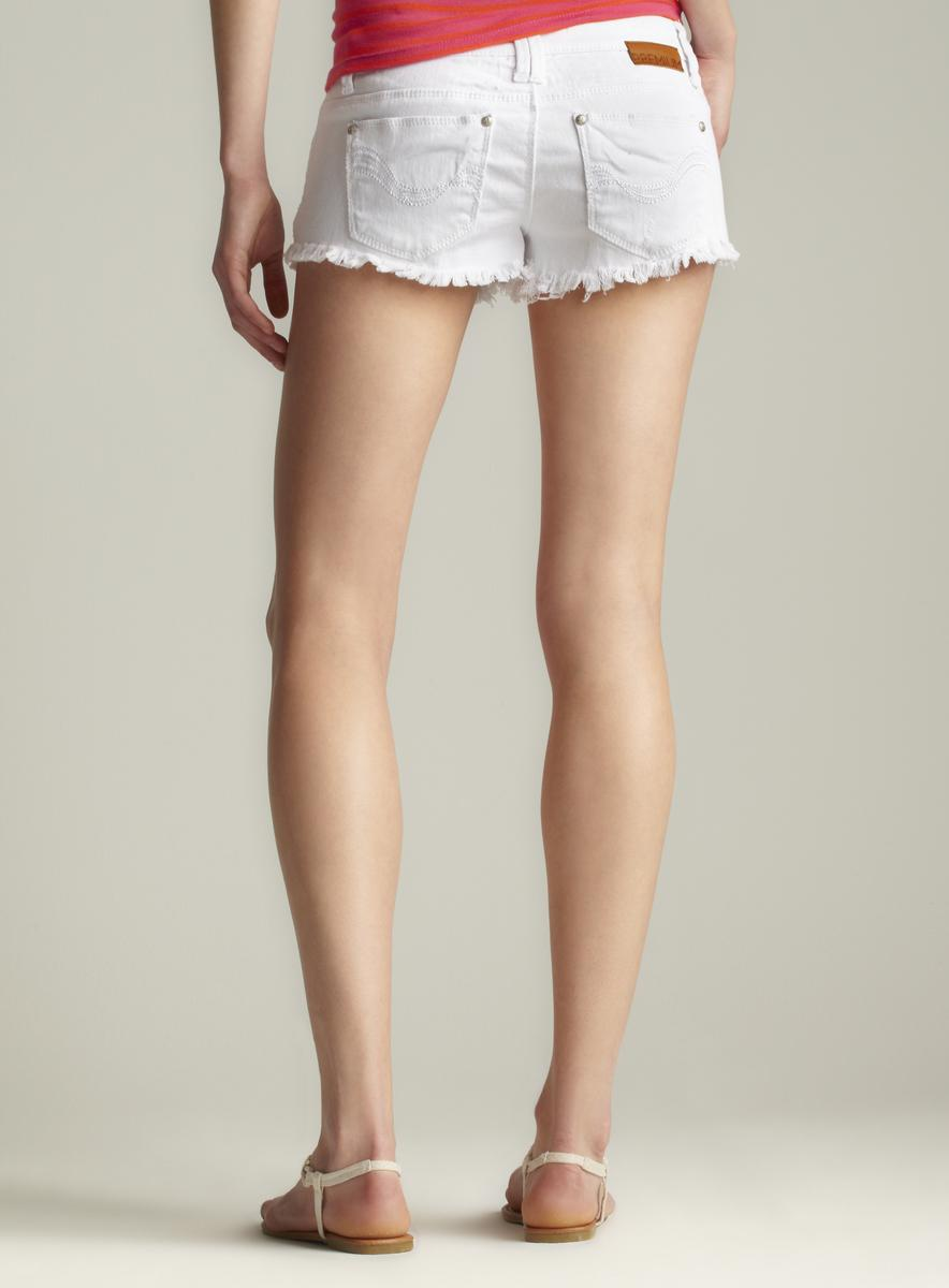 Almost Famous Frayed Distressed Short Shorts
