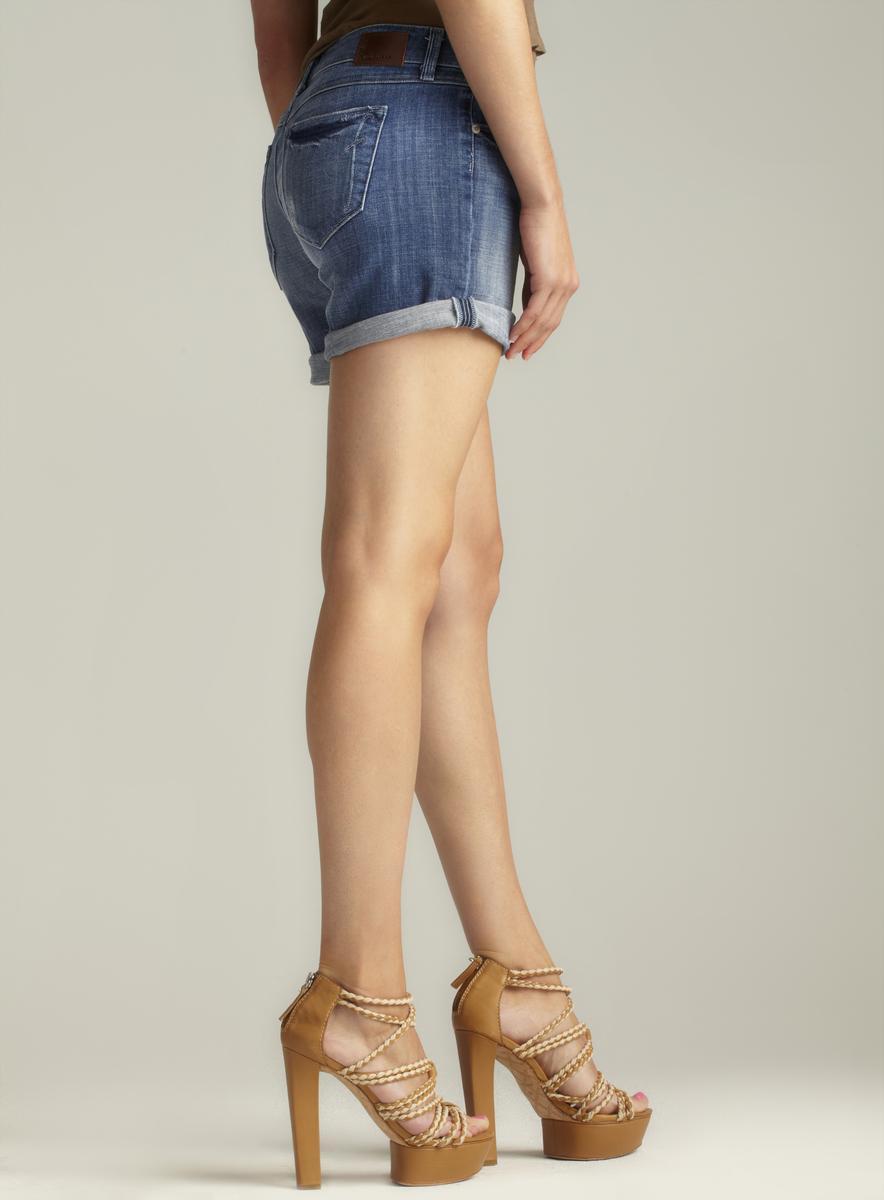 Fragile Roll Cuff Denim Shorts