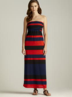 Moa Moa Striped Tube Top Maxi Dress - Free Shipping On Orders Over ...