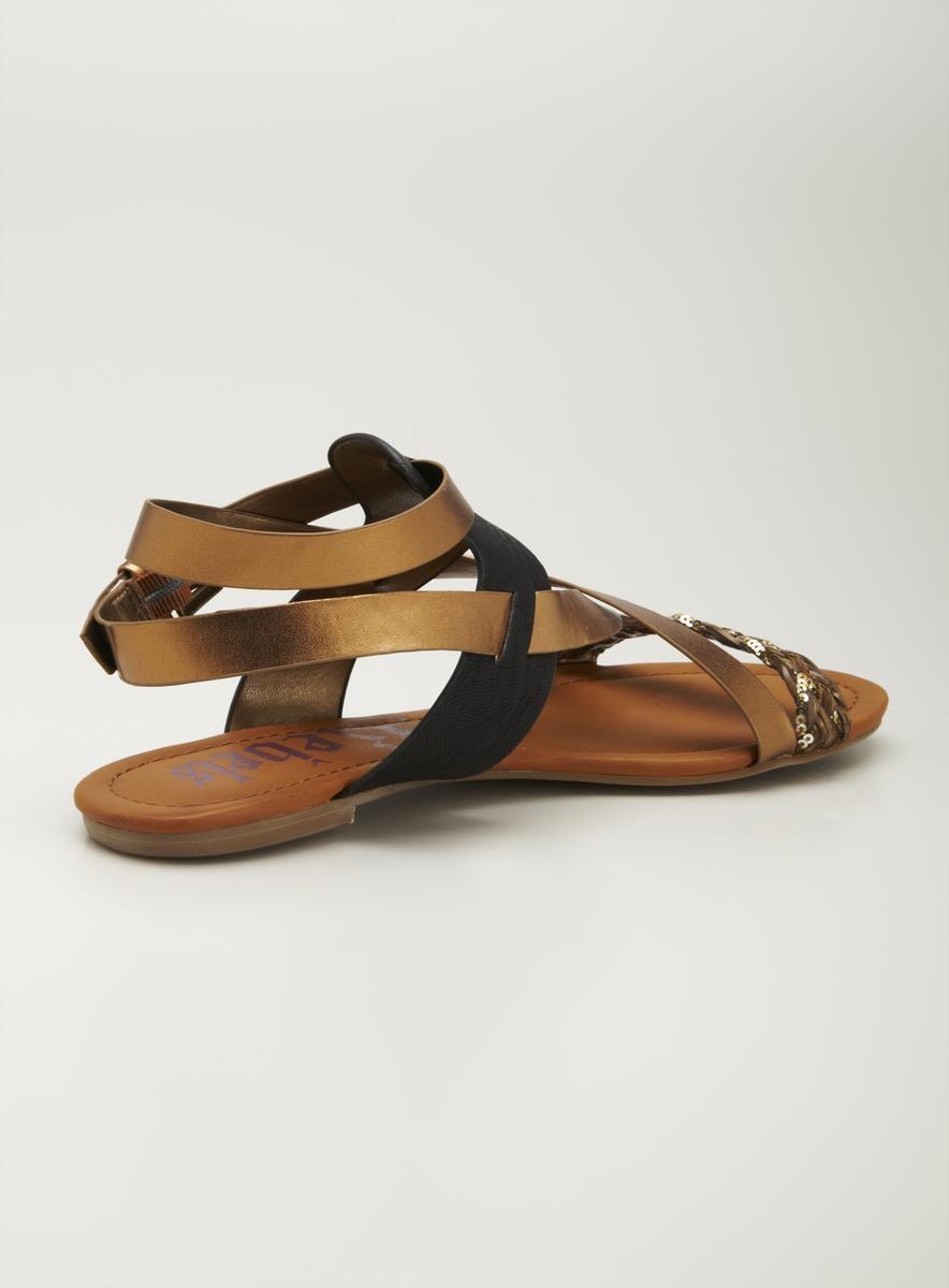 Rebels Flat Ankle Strap Sandal