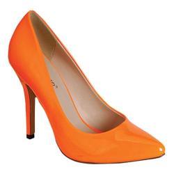 Women's Beston Athena-81 Orange Patent Leather