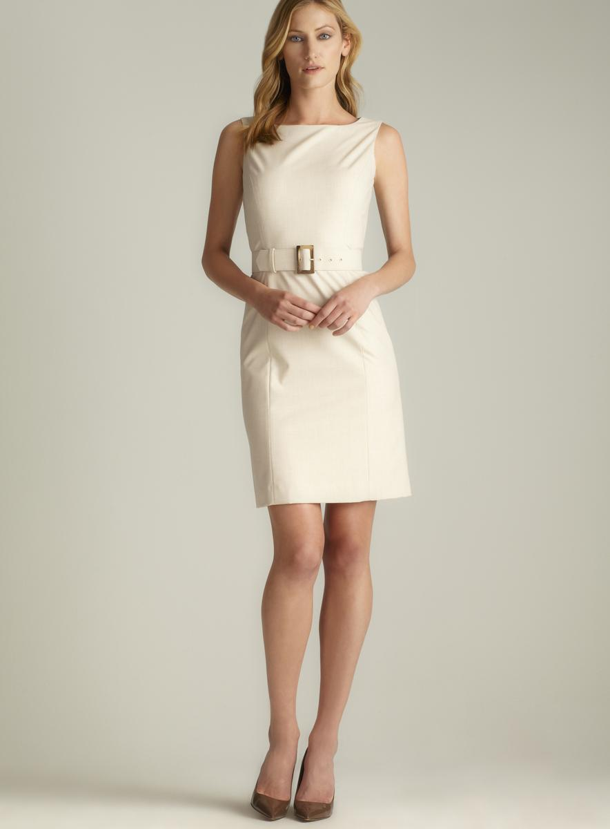 Tahari One Button Belted Dress Suit - Thumbnail 1