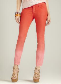 Free People Ombre Skinny Jean, Light Orange