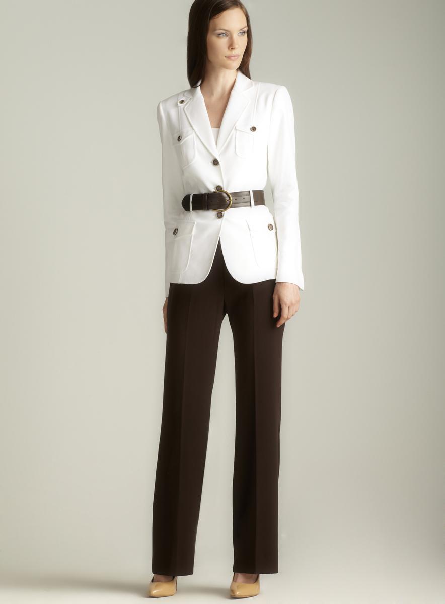 Tahari Safari Inspired Belted Pant Suit