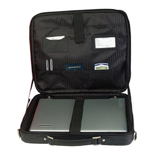 Royce Leather 17in Laptop Briefcase 682-6 Black