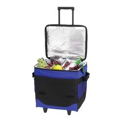 Picnic at Ascot 60-Can Collapsible Rolling Cooler Royal Blue