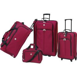 Travelers Club Deluxe 4 Piece Travel Set Red