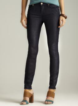 7 For All Mankind Slim Dark Ankle Zipper Denim Jean