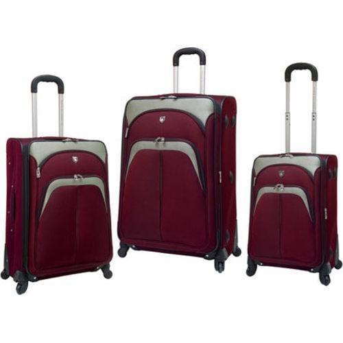 TPRC Lexington 3 Piece Expandable Luggage Set Maroon