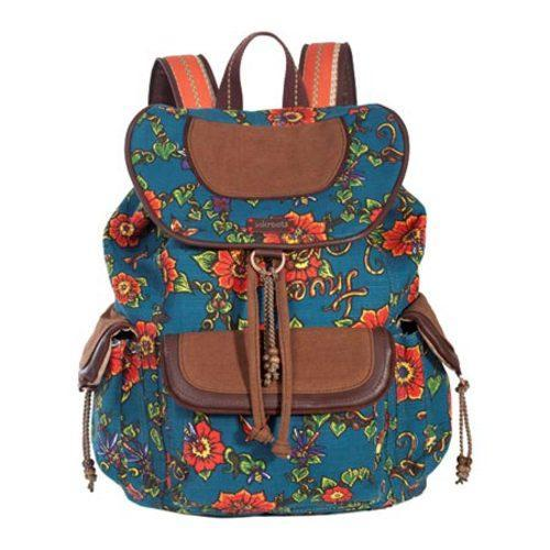Women's Sakroots Artist Circle Backpack Lagoon True Love - Thumbnail 1