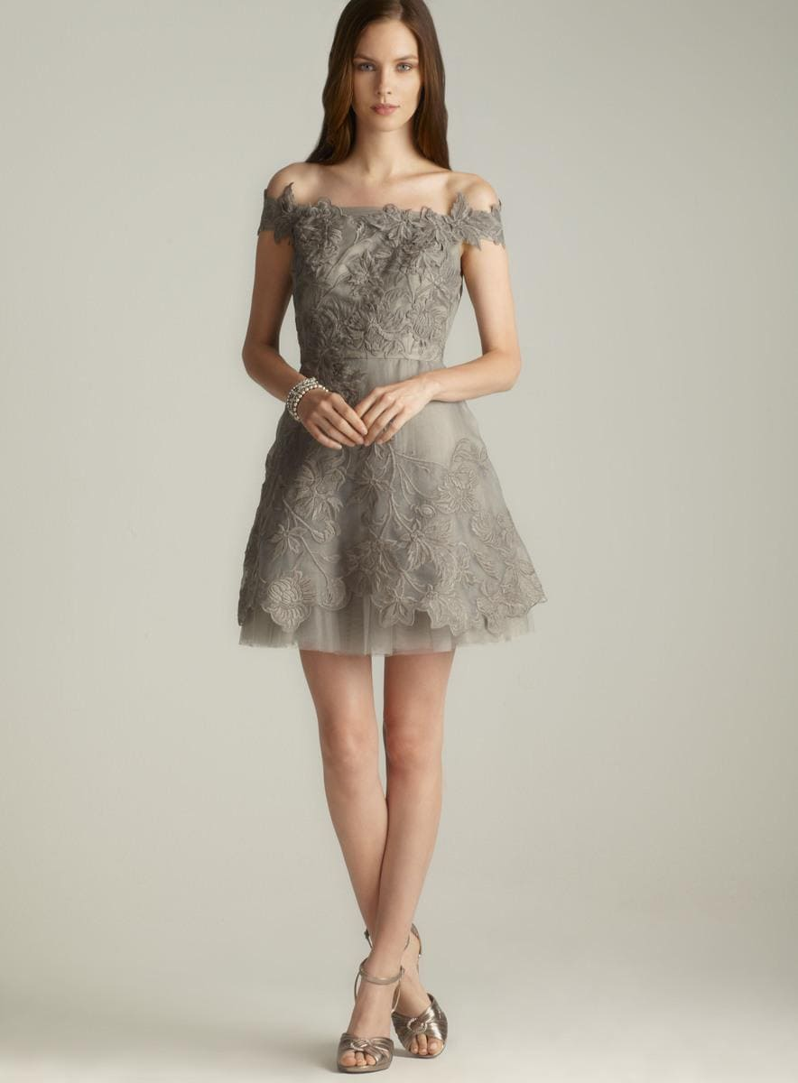 9d352fa0350 Shop Adrianna Papell Embroidered Organza Off The Shoulder Dress - Free  Shipping Today - Overstock - 8185233