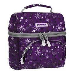J World Corey Lunch Bag Garden Purple