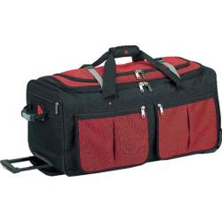 Athalon Red 34-inch Rolling Duffel Bag