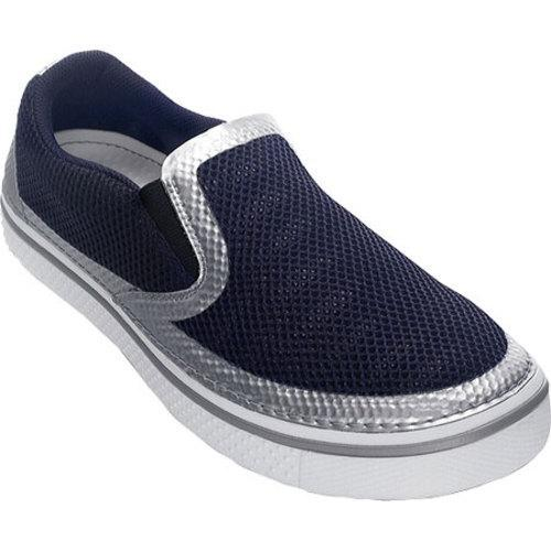 c7254f170fea Shop Men s Crocs Hover Crocsweld Slip On Nautical Navy Silver - Free  Shipping Today - Overstock - 8199960