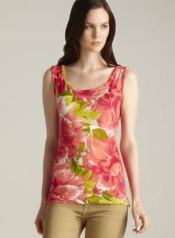 Isaac Mizrahi Floral Print Tank