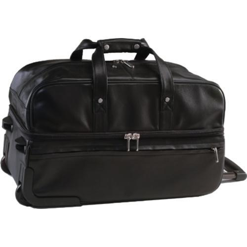 Shop Royce Leather Trolley Duffel 649-5 Black - Free Shipping Today ... 3f118c5498947