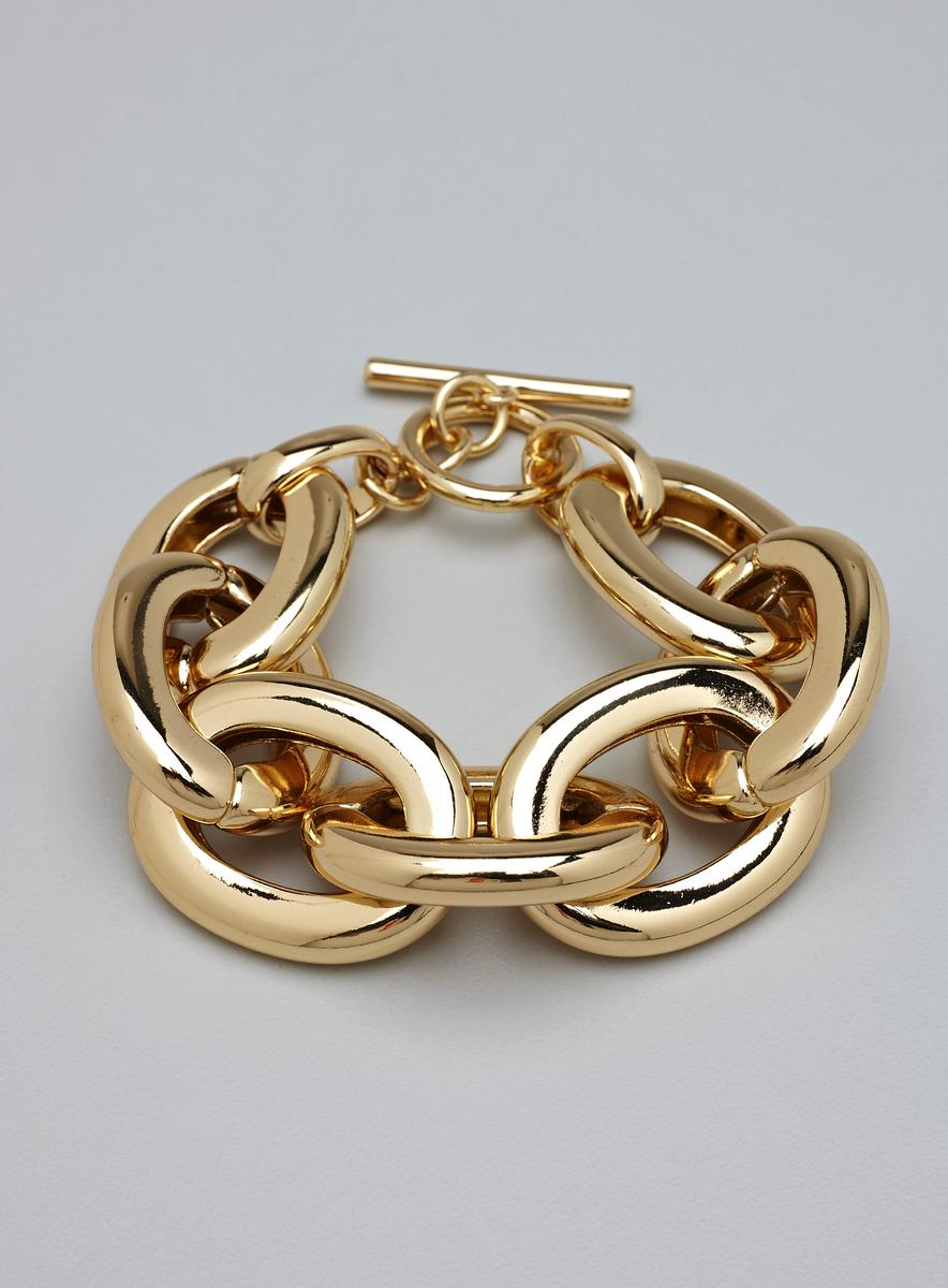 f27fe6660909a Lydell NYC Large Gold Chain Link Bracelet