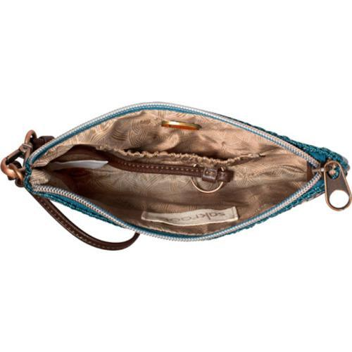 Women's Sakroots Artist Circle Large Wristlet Lagoon True Love - Thumbnail 1