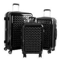 J World Jonit 3 Piece Expandable Luggage Set Black