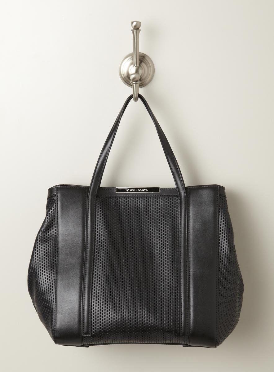Charles Jourdan Bailey Perforated Block Leather Tote
