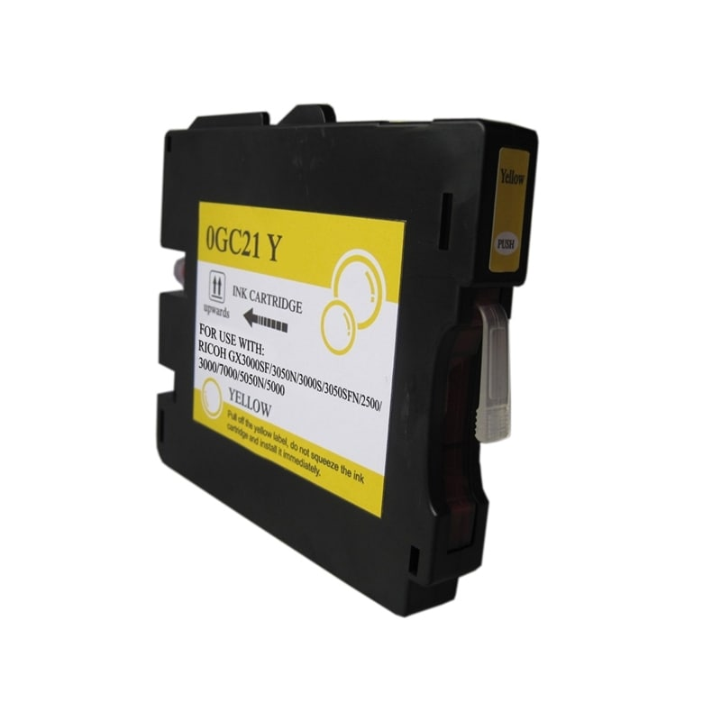 Insten Yellow Non-OEM Ink Cartridge Replacement for Ricoh GC 21Y/ GC 21HY