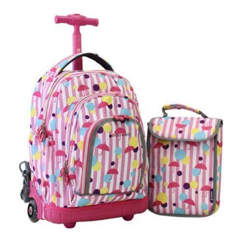 9388b9df9b Shop Children s JWorld New York Lollipop Sparkling Rolling Backpack w  Lunch  Bag Rain - Free Shipping Today - Overstock - 8380023
