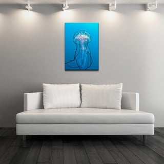 Chris Doherty 'Jellyfish' Gallery-wrapped Canvas Wall Art