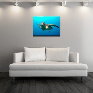 Chris Doherty 'Squirt Blue' Canvas Wall Art