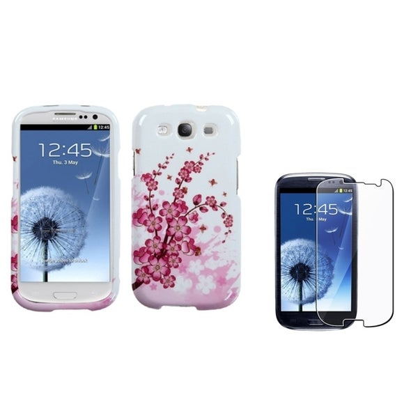 INSTEN Flower Phone Case Cover/ Screen Protector for Samsung Galaxy S3/ S III