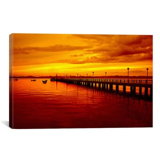 iCanvas 'Sunset at The Pier' Giclee Canvas Art Print