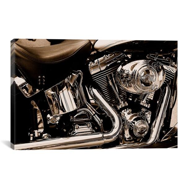 iCanvas Harley Motorcycle' Canvas Print Wall Art