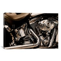 iCanvas Harley Motorcycle' Canvas Print Wall Art