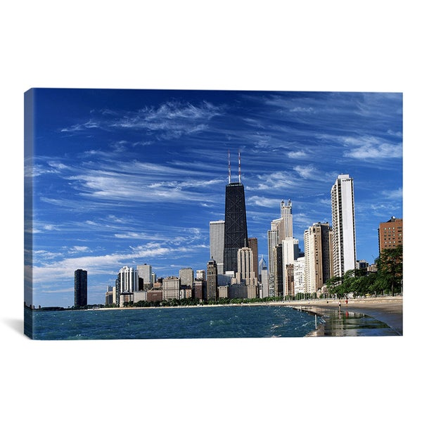 iCanvas 'Downtown Chicago' Canvas Giclee Art Print