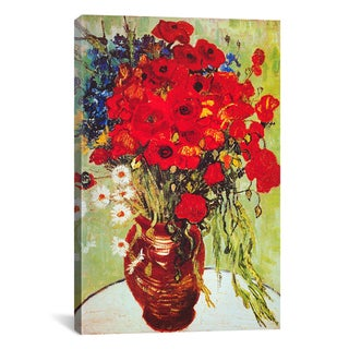 iCanvas Vincent Van Gogh 'Vase with Daisies and Poppies' Canvas Wall Art