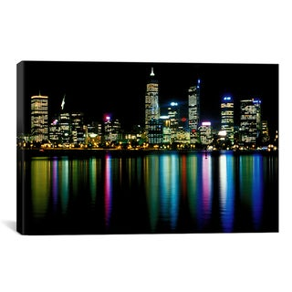 iCanvas 'Downtown City Lights' Canvas Wall Art