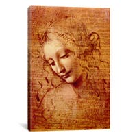 iCanvas Leonardo Da Vinci 'Female Head' Canvas Wall Art