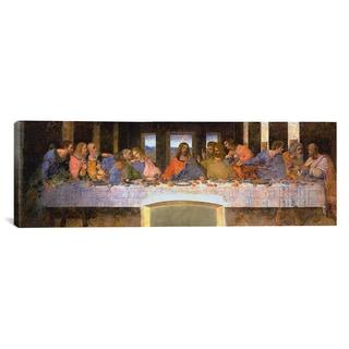 iCanvas Leonardo Da Vinci 'The Last Supper' Canvas Wall Art (Panoramic)
