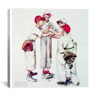 iCanvas Norman Rockwell 'Choosing Up (Four Sporting Boys: Baseball)' Canvas Art