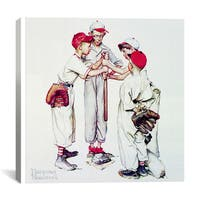 iCanvas Norman Rockwell 'Choosing Up (Four Sporting Boys: Baseball)' Canvas Art