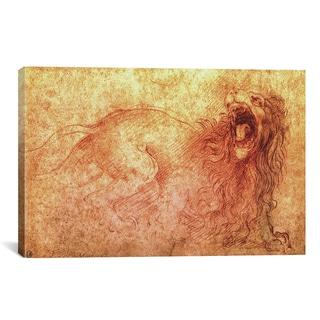 iCanvas Leonardo da Vinci 'Sketch of a Roaring Lion' Canvas Art