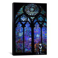 iCanvas Banksy 'Stained Glass Window II' Canvas Art