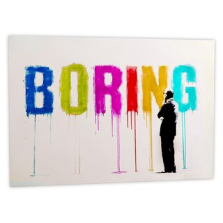 iCanvas Banksy 'Boring III' Canvas Art