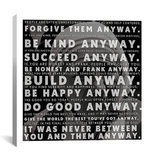iCanvas 'Mother Teresa Quote' Canvas Art Print