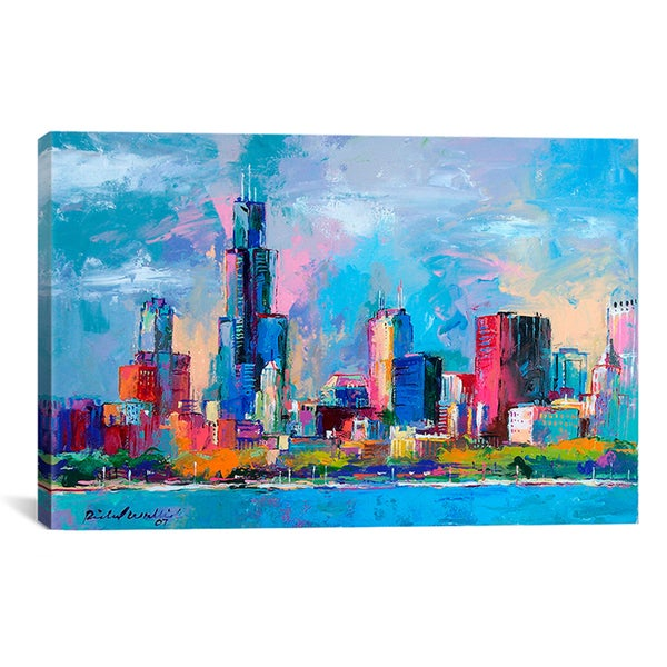 iCanvas Richard Wallich 'Chicago 5' Canvas Art Print