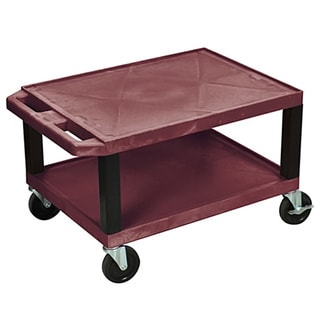 Offex Rolling 16-inch Tuffy AV Cart 2 Storage Shelf