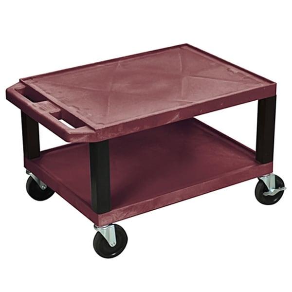 Offex Rolling 16-inch Tuffy AV Cart 2 Storage Shelf - Free Shipping