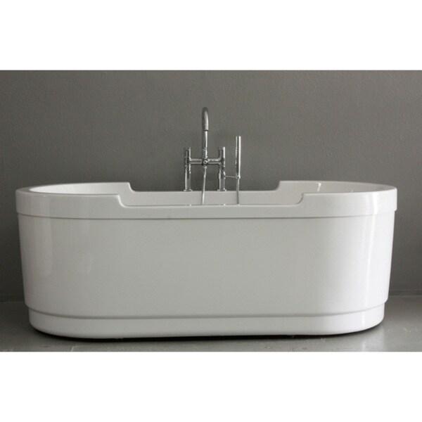 Shop Sansiro Modern Soaker 71 Inch Coronation Bathtub