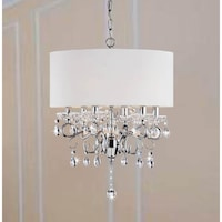 Shop silver mist hanging crystal drum shade chandelier by inspire q silver orchid taylor crystal chandelier solid white shade aloadofball Images